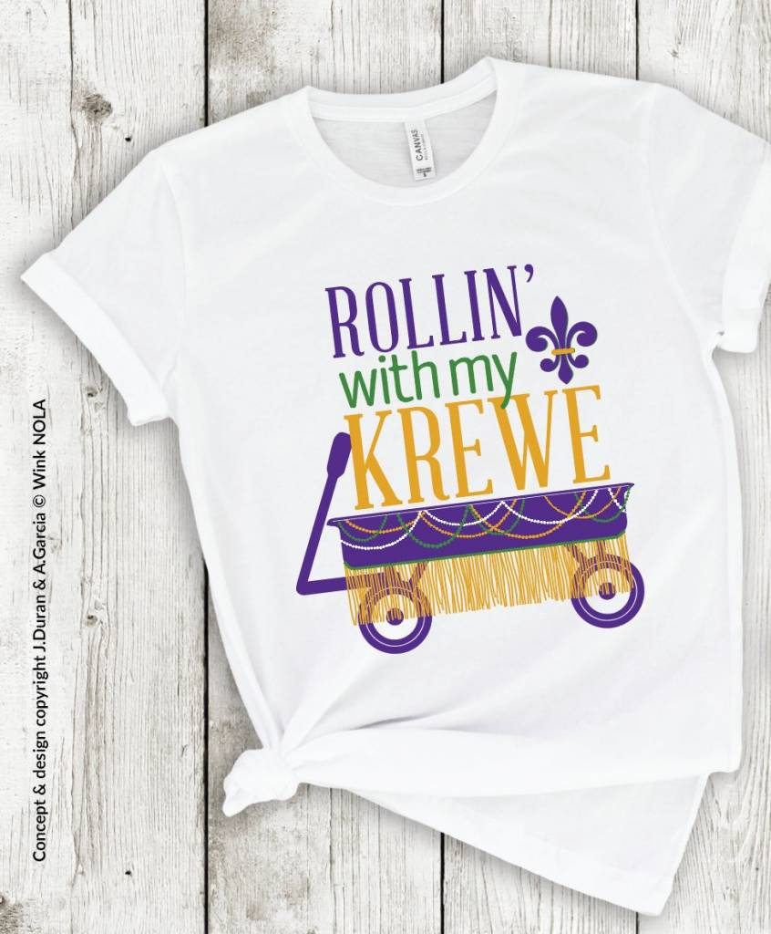 Rollin with My Krewe Dolman