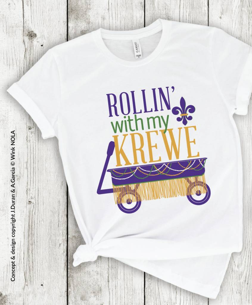 Rollin' with my Krewe Toddler Tee