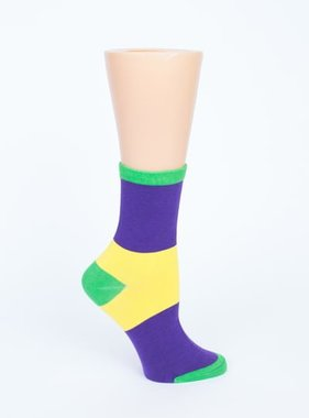 Mardi Gras Stripe Socks