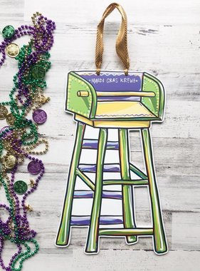 Home Malone Mardi Gras Ladder Door Hanger