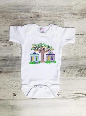 Houses with Bead Tree Onesie