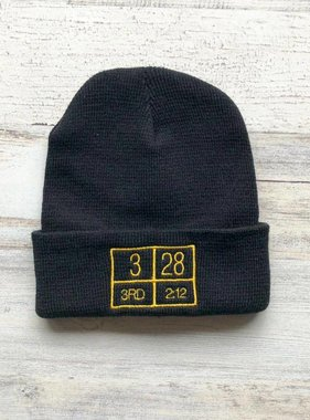 Black and Gold 3/28 Beanie