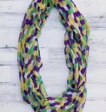 Fleurty Girl Mardi Gras Hexagon Infinity Scarf