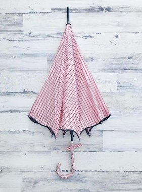 Polka Dot Scallop Umbrella, Pink