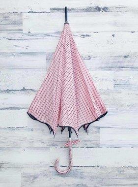 Polka Dot Scallop Umbrella, Pink