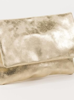 Foldover Clutch, Champagne