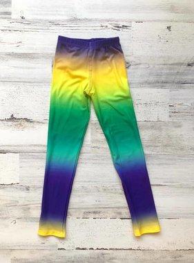 Kids Mardi Gras Tie Dye Leggings