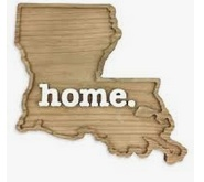 Louisiana Home Wall Art Plaque