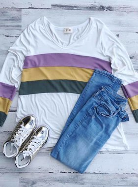 Mardi Gras Color Block Tunic