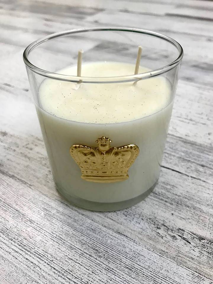 King Cake Candle in Carnival Packaging