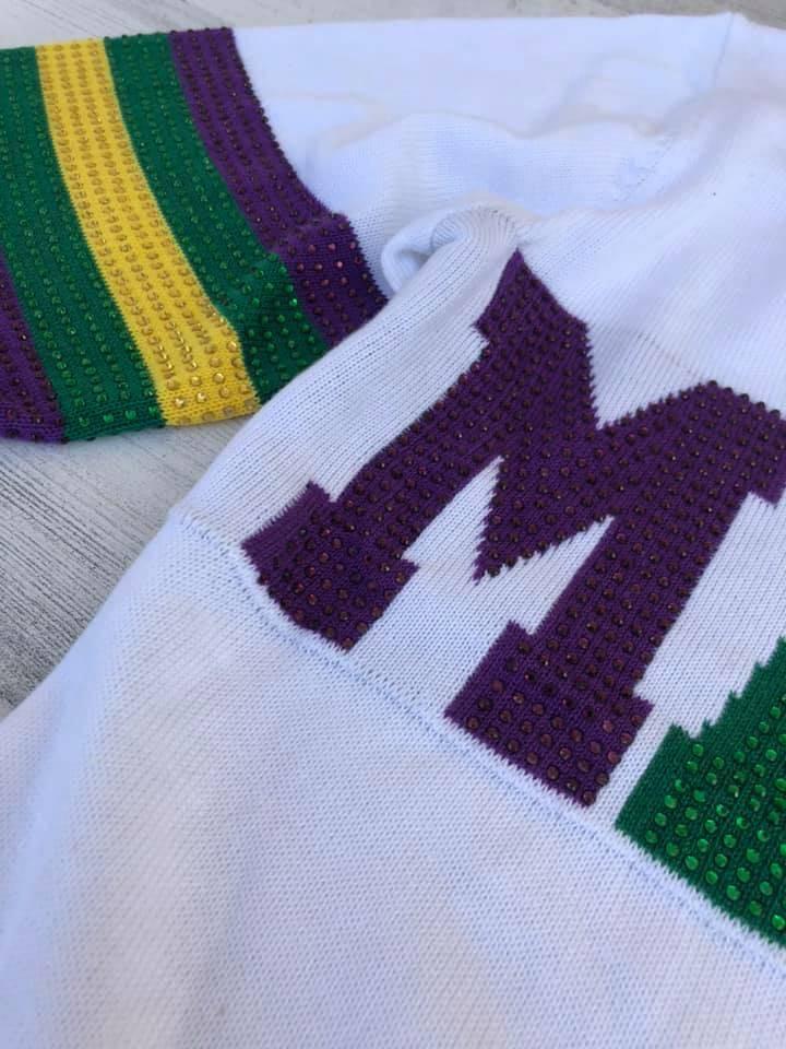Mardi Gras Mambo Sweatshirt, Sparkle