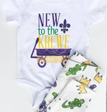Kids Mardi Gras Gator & Crown Leggings
