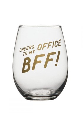 Office BFF Stemless Wine Glass