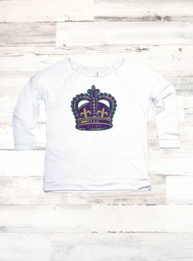 Mardi Gras Crown Sweatshirt