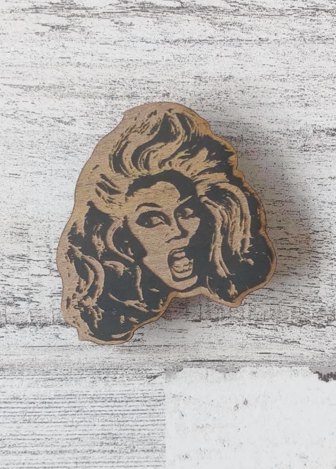 RuPaul Wood Magnet