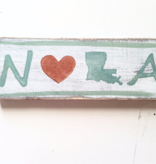 Home Malone NOLA Heart & State Wood Sign