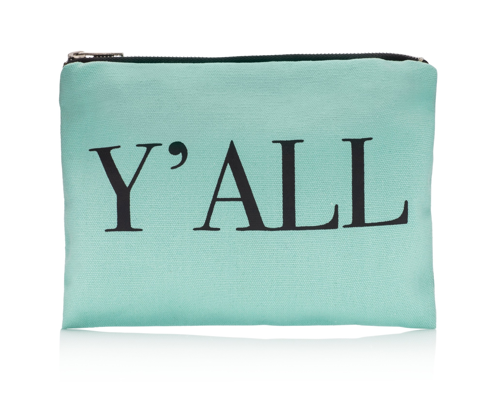 Teal Y'all Pouch