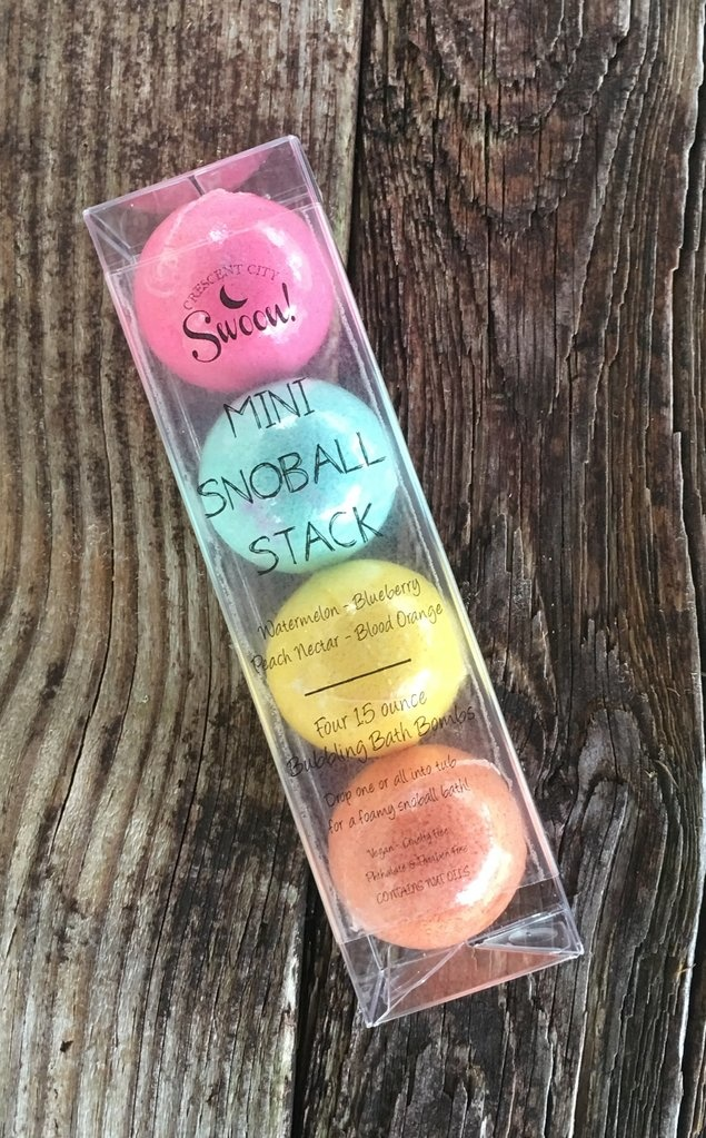 Crescent City Swoon Mini Snoball Stack Bath Bombs