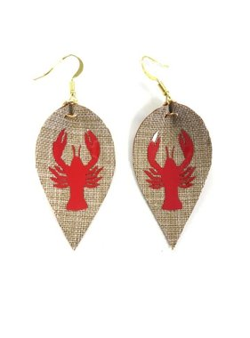 Crawfish Teardrop Earrings