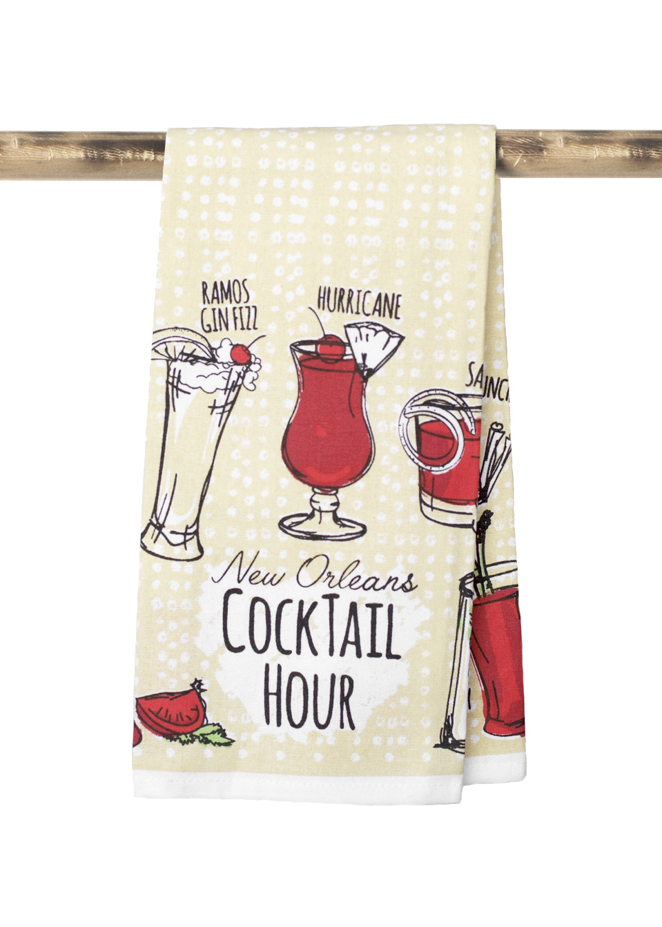 New Orleans Cocktail Hour Towel