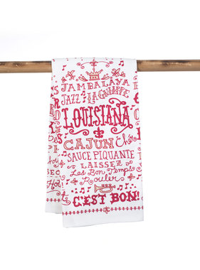 Louisiana Words Towel