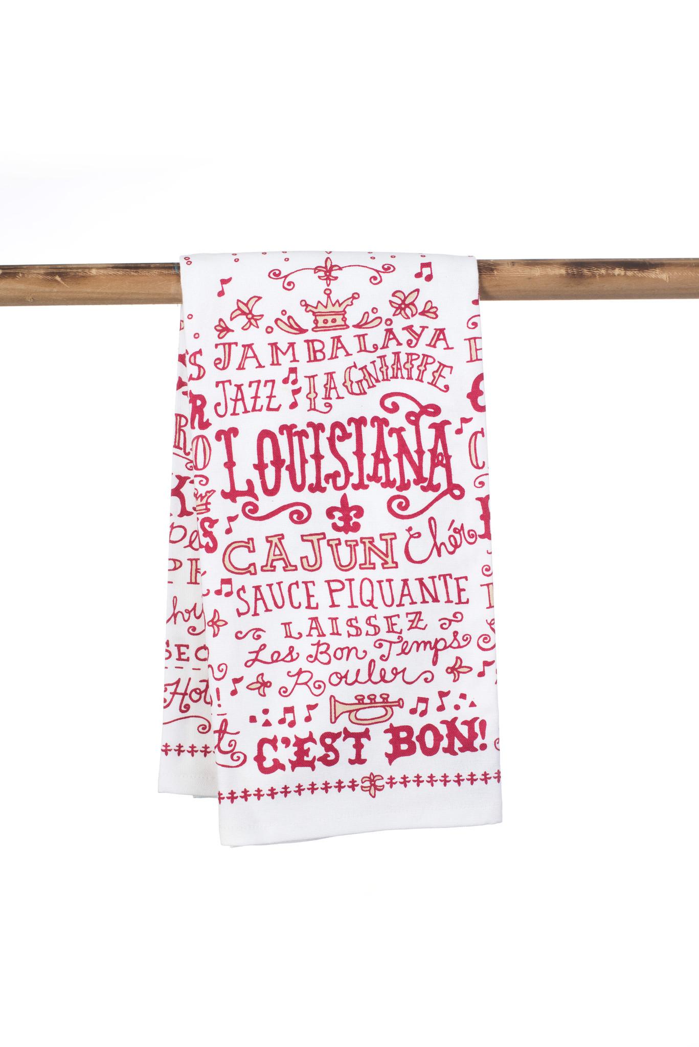 Louisiana Words Towel