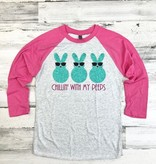 Chillin' With My Peeps Baseball Tee