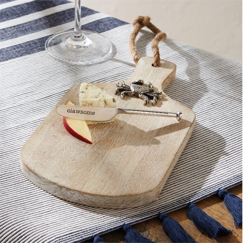 Crab Wood Cheese Board Set
