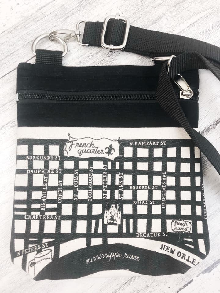 Crossbody French Quarter Map Purse