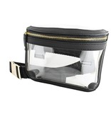 Clear Fanny Pack, Black