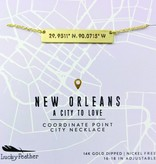 Jewelry, Necklace, NOLA City Coordinates, Gold