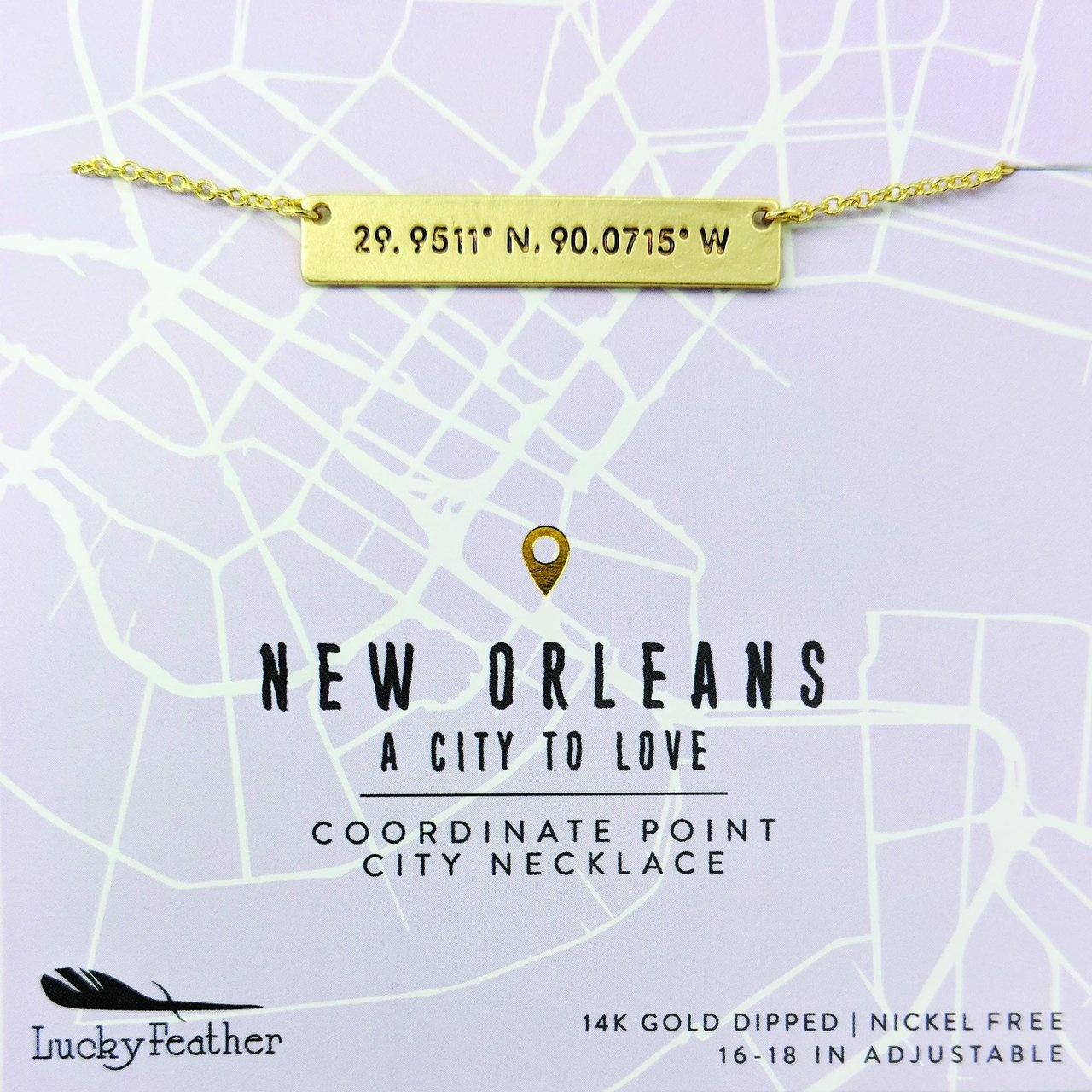 NOLA City Coordinates, Gold