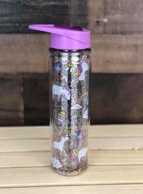 Glitter Unicorn Water Bottle for Kids