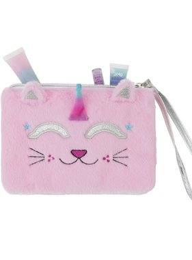 Caticorn Faux Fur Wristlet
