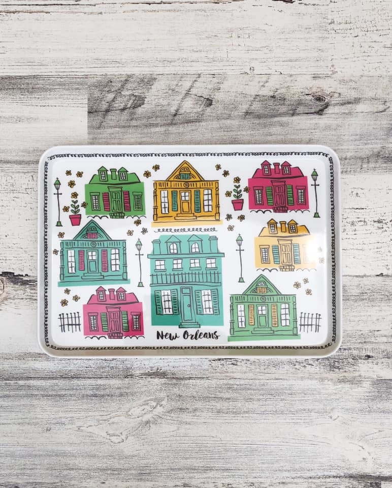 Home, Snack Tray, Creole Cottages