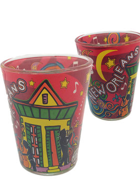New Orleans Swirl Shot Glass