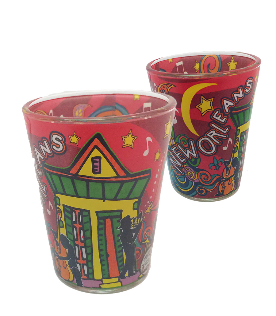 New Orleans Swirl Shot Glass