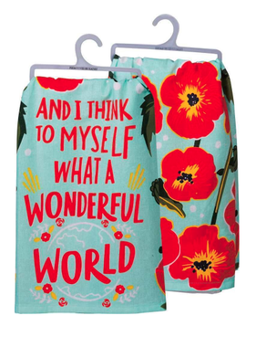 Primitives by Kathy What A Wonderful World Towel