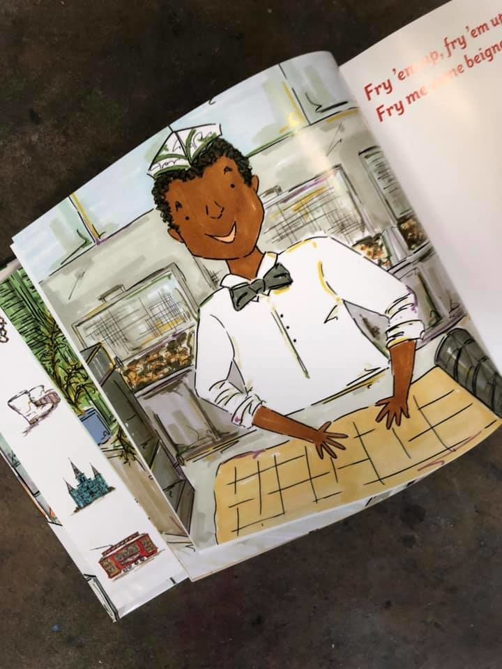 Fry'em Up Beignet Man Book