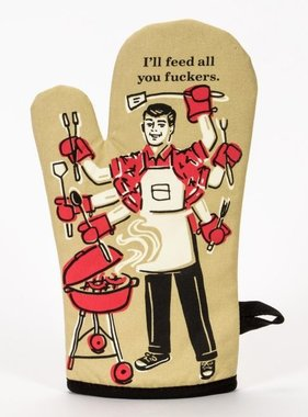 Blue Q Feed You Oven Mitt