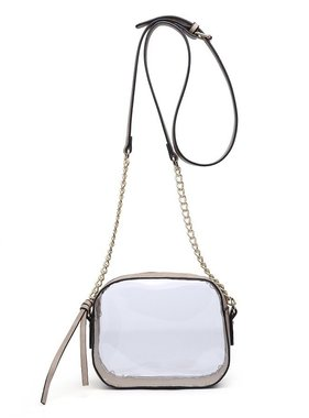 Clear Tan Game Day Crossbody Bag