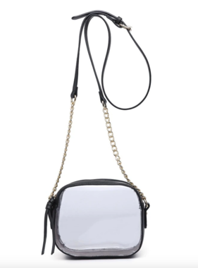 Clear Black Game Day Crossbody Bag