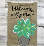 Succulents Garden Flag