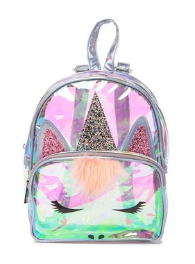 Glitter Unicorn Clear Backpack
