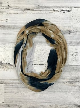 Black and Gold Tie Dye Scarf