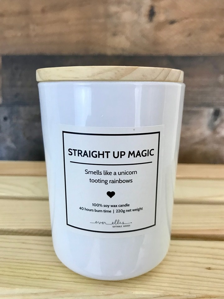Straight Up Magic Candle with Gift Bag