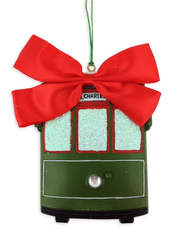 New Orleans Christmas Ornaments.Front View Streetcar Ornament St Charles