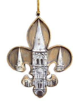 St. Louis Cathedral Fleur de Lis Ornament