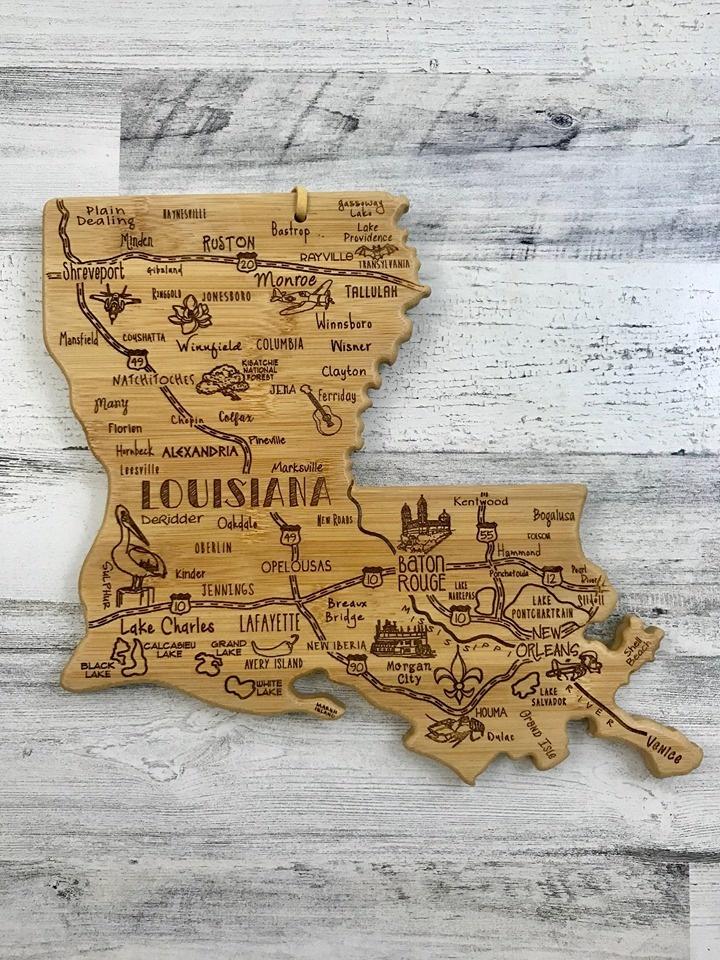 Destination Louisiana Cutting Board