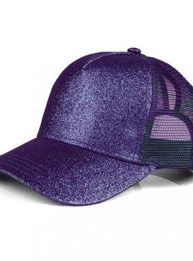 Purple Glitter Pony Cap